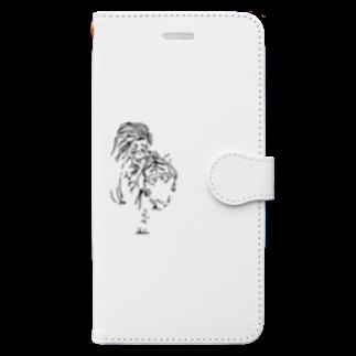 Takafumi  Yamadaの漆黒の虎 ※黒不可 Book-style smartphone case