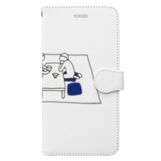茶の間Tシャツ Book-style smartphone case