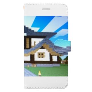 マイクラ、城 Book-style smartphone case