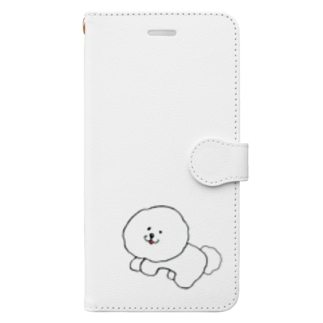 Be with ビション Book-style smartphone case