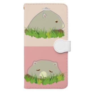 """ウォンバットの """"Tumori""""ちゃん3 Book-style smartphone case"""