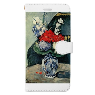ポール・セザンヌ / 1874 /Still life, Delft vase with flowers / Paul Cezanne Book-style smartphone case