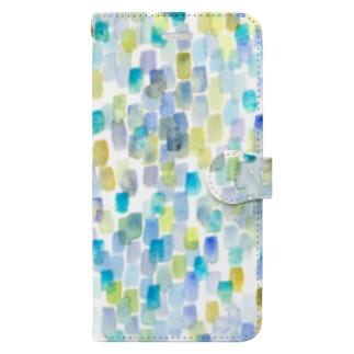 雨色rectangle Book-style smartphone case