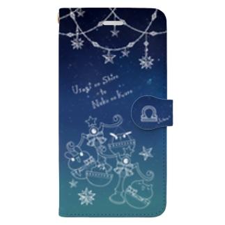 にゃんぴょん天秤座スマホケース Book-style smartphone case