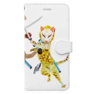 NINJA CAT 激突2 Book-style smartphone case