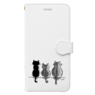 Moonの3にゃんず Book-style smartphone case