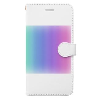 にじいろぐらでーしょん Book-style smartphone case