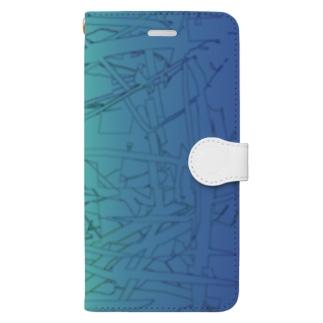 水草の漫画調3 Book-style smartphone case