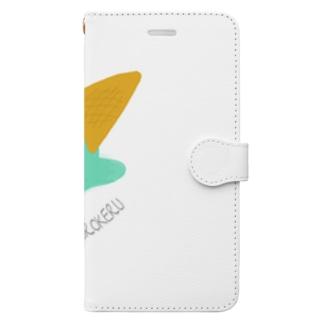 TAKOtororoOBAKEのチョコミント Book-style smartphone case