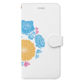 ハナまりも Book-style smartphone case