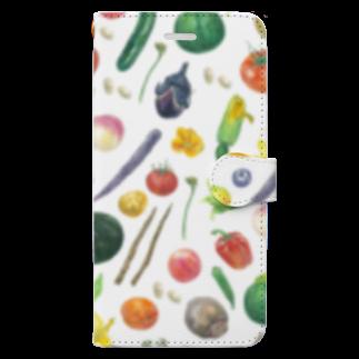 しみずゆま のやさいデザイン Book-style smartphone case