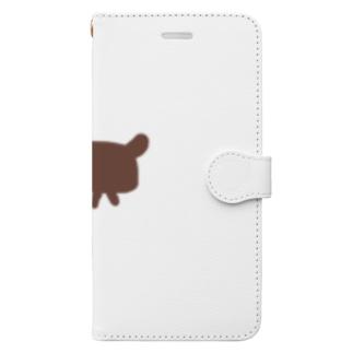 お絵描きdog Book-style smartphone case