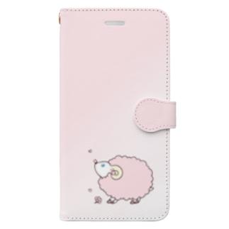 桜華爛漫の桜ひつじ Book-style smartphone case