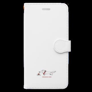oruoruのowanzai Book-style smartphone case