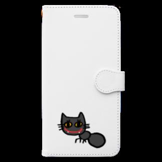 nyakkiのありねこ Book-style smartphone case