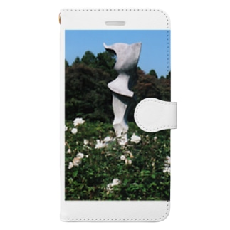 Dreamscape(天空の風)のホワイトガーデン Book-style smartphone case