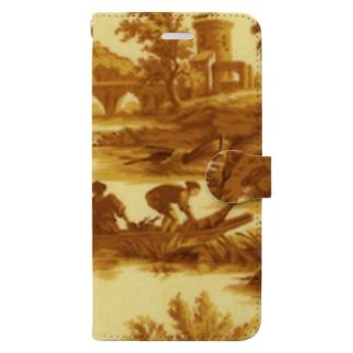 J. Jeffery Print Galleryのトワルドジュイ Toile de Jouy Book-style smartphone case