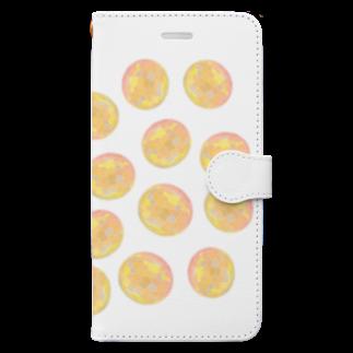 水草のオレンジ玉いっぱい Book-style smartphone case