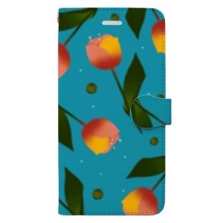 チューリップ Book-style smartphone case