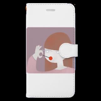 monacoocの女の子 Book-style smartphone case