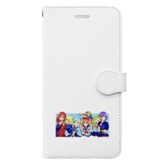 もも太海賊団 女子メンバー Book-style smartphone case