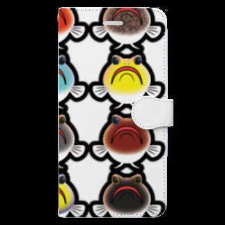 hiromu.のドット・ジョー(カラフルver.) Book-style smartphone case