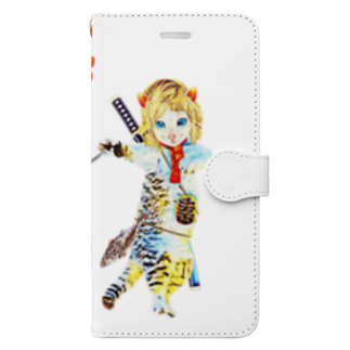 Rock catのBAD CAT 散歩 Book-style smartphone case