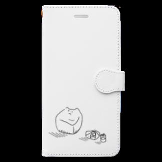 なるのもうすでにちょっとダメなソファ Book-style smartphone case