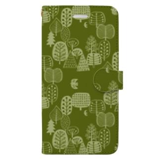 森とトリA Book-style smartphone case