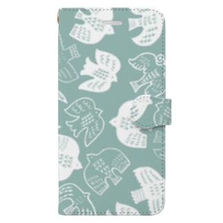 はばたくトリたちB Book-style smartphone case