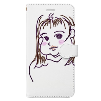 モモ Book-style smartphone case