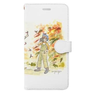 秋の気配 Book-style smartphone case