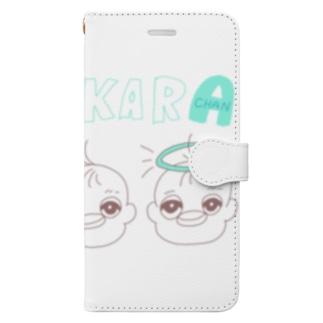 henge 子宝ちゃん エンジェルミントグリーン Book-style smartphone case