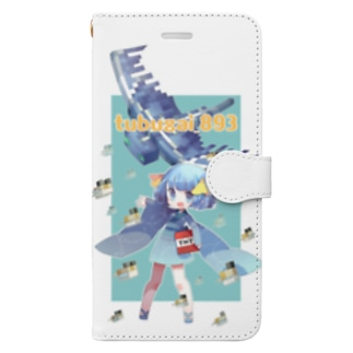よこえさん作つぶ貝 Book-style smartphone case
