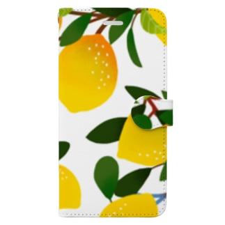 レモン Book-style smartphone case