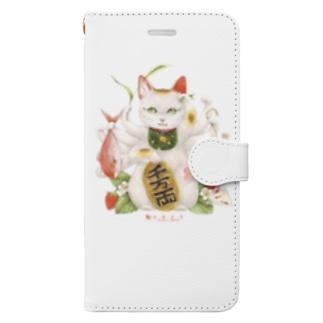 まねき猫 Book-style smartphone case