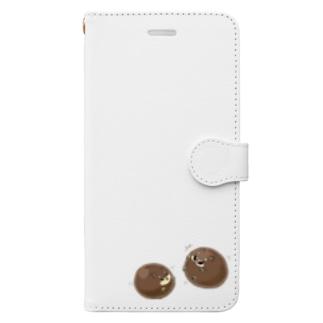 タピオカ犬(赤茶) Book-style smartphone case