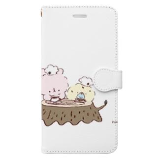 うさぴよの団らん Book-style smartphone case