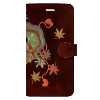 源氏物語紅葉賀甲蒔絵硯箱 Book-style smartphone case