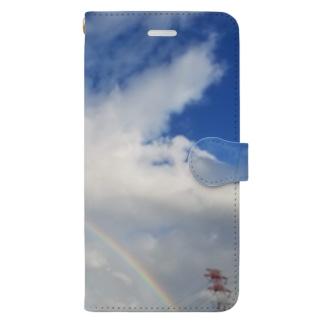 虹(最低限Ver.) Book-style smartphone case