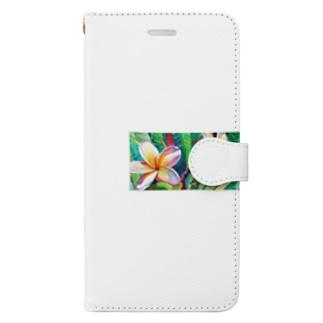 Plumeria Book-style smartphone case