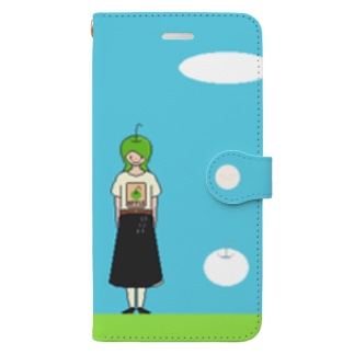 Dots Good Person ~Apple Couple Book-style smartphone case