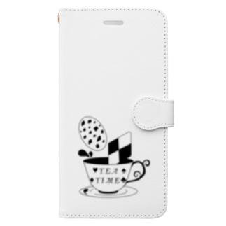 お茶会 Book-style smartphone case
