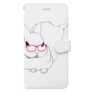 FunnyBoxの眼鏡うさぎ Book-style smartphone case
