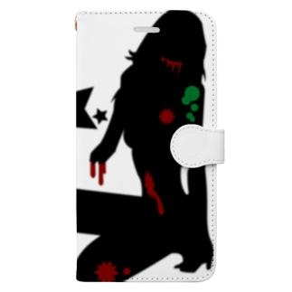 スターシリーズ✖️ゾンビガール Book-style smartphone case