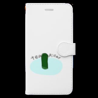 イナ工藤の茶柱が立つ Book-style smartphone case