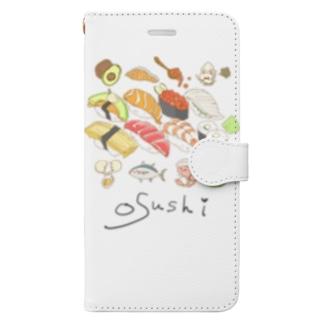 Osushiと仲間Tシャツ Book-style smartphone case