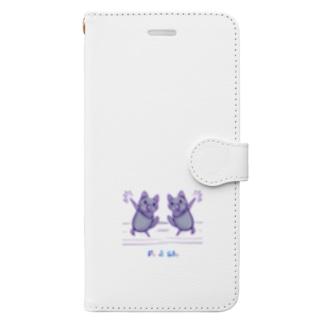 2年越し和解コラボ(サイズやらかしたVer.) Book-style smartphone case
