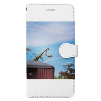 かまかまカマキリ Book-style smartphone case