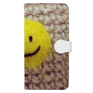 ハンドメイドにこちゃん Book-style smartphone case